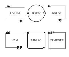 Modelli di citazione impostati vettore