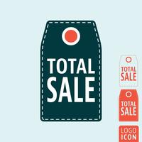 Icona di etichetta di vendita totale