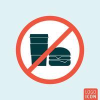 Non mangiare icona vettore