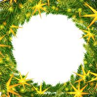 Corona di Natale sullo sfondo