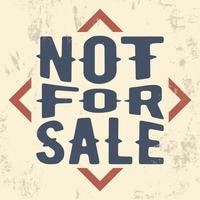 Non in vendita francobollo vettore