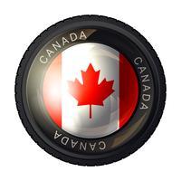 Icona della bandiera del Canada vettore