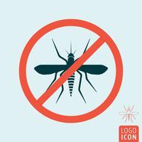 Icona di zanzara isolata vettore