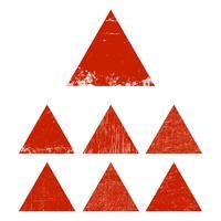 Set triangolo grunge vettore
