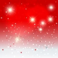 Fiocchi di neve con sfondo di stelle vettore