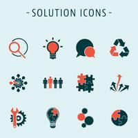 Imposta le icone delle soluzioni vettore