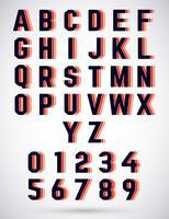 Alfabeto triplo carattere vettore