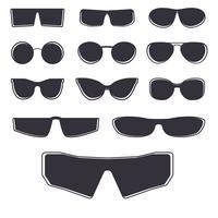 Modello di occhiali isolato vettore