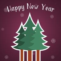 Felice anno nuovo modello di carta