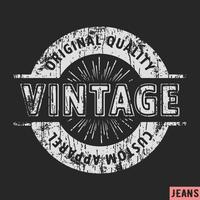 Timbro vintage abbigliamento personalizzato vettore