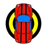 Auto sportiva rossa vettore