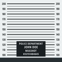 Sfondo della foto segnaletica della polizia vettore