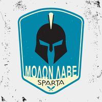 Casco Spartan stampato vettore