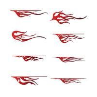 grafica tribale del veicolo, disegno dell'involucro grafico del veicolo della fiamma vettore