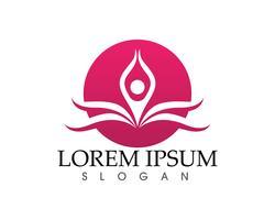 Lotus Flower Sign per Wellness, Spa e Yoga vettore