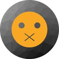 Icona Silent Emoji vettoriale