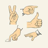Raccolta della barretta della mano - retro vettore dell'illustrazione di stile