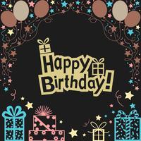 Fondo dell'illustrazione di buon compleanno vettore
