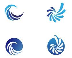 icone del modello logo e simboli cerchio vortice