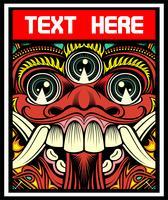lucifero, diabolico, demone satanico vettoriale disegno a mano. Disegni di maglietta, motociclista, disk jockey, gentiluomo, barbiere e molti altri.isolated e facile da modificare. Illustrazione vettoriale - Vector
