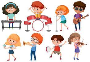 Set di caratteri musicisti vettore