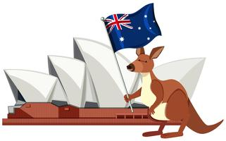 Sydney Australia Landmark Element vettore
