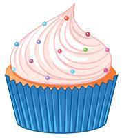 Un cupcake su sfondo bianco