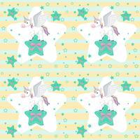 Simpatico Unicorno su Star Seamless