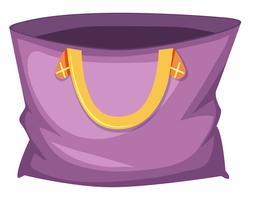 Grande tote bag viola vettore