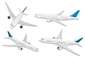Una serie di aerei commerciali vettore