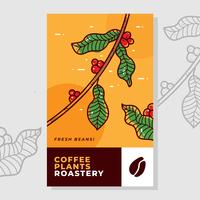 Vettore dell'etichetta del caffè