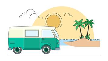 Viaggio al vettore spiaggia