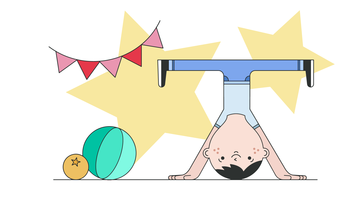 vettore di headstand