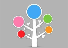 Vettore dell'albero astratto 3D