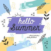 Vettore di estate creativa