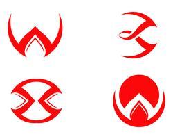 Vettore del modello di logo e simboli tridente magico,