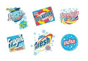 Vettore di pubblicità del sapone della lavanderia retro