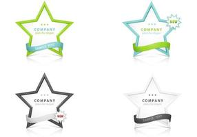 Stars with Ribbon Banner Vectors