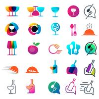elemento dell'icona di vettore di disegno della collezione logo del cuoco unico dell'alimento