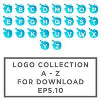 Lettera set az Bubble logo modello o icona illustrazione vettoriale