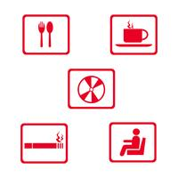 cibo e bevande icona logo design illustrazione vettoriale