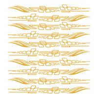Grafici del veicolo della bici di automobile, illustrazione di vettore delle decalcomanie dei vinili