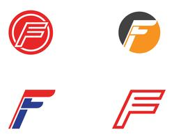 Icone di vettore del modello di logo e simboli di F