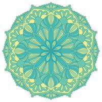 Mandala. Elemento decorativo orientale. Islam, arabo, indiano, motivi ottomani.