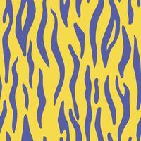 Astratto animale colorato stampa. Modello di vettore senza soluzione di continuità con strisce di tigre. Tessile ripetendo sfondo di pelliccia animale.