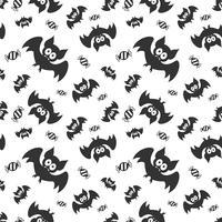 Modello di vettore senza soluzione di continuità con i pipistrelli e sudori. Halloween ripetendo sfondo di pipistrelli per stampa tessile, carta da imballaggio o scrapbooking.
