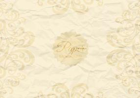 Crumpled Paper with Swirls Vector Background