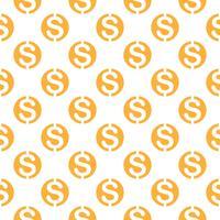 Modello senza cuciture con il simbolo del dollaro. Ripetendo il fondo di simbolo di valuta per progettazione tessile, carta da imballaggio, scrapbooking ecc.