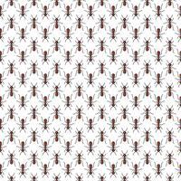 Le formiche vector il modello senza cuciture per progettazione del tessuto, carta da parati, carta da imballaggio