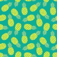 Sfondo vettoriale ananas. Stampa tessile tropicale colorata estate.